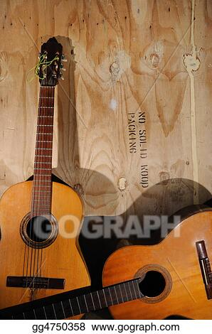 Stock Photography - Old acoustic guitars  Stock Photo