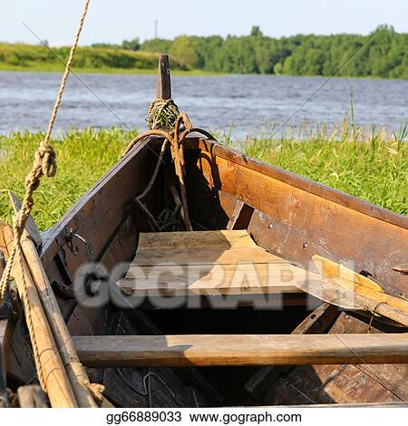 Stock illustration old antique boat in summer day on the river old antique boat in summer day on the river publicscrutiny Image collections