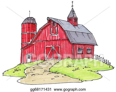 stock illustration old barn clipart illustrations gg68171431