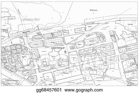Stock illustration old blueprint of part stockholm clip art old blueprint of part stockholm malvernweather Images