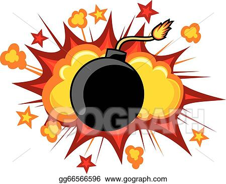 vector stock old bomb starting to explode stock clip art rh gograph com  clip art of dynamite explosion