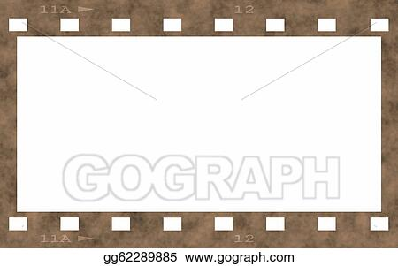 Stock Illustration - Old film strip frame isolated . Clipart Drawing ...
