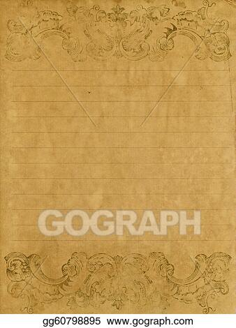 Stock illustration old grunge letter paper with vintage victorian old grunge letter paper with vintage victorian style altavistaventures Images