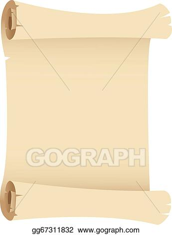 EPS Vector - Old grunge paper scroll  Stock Clipart Illustration