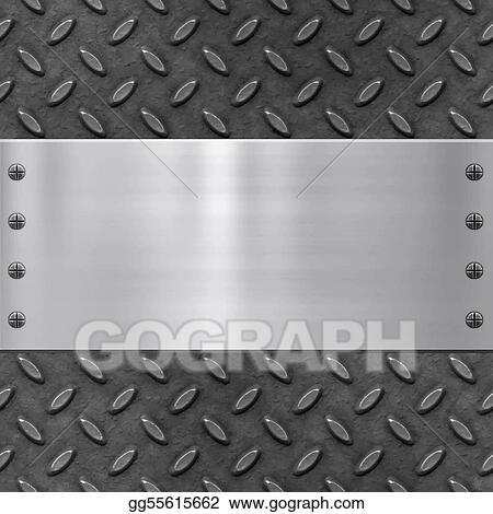 Vector Clipart Old Metal Background Texture Vector