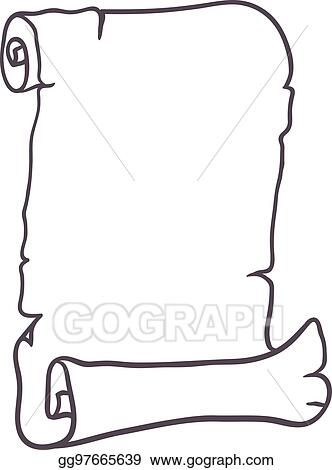 vector art old paper scroll vector illustration eps clipart rh gograph com scroll vector female scroll vector free to download