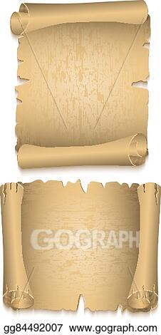 EPS Illustration - Old paper scrolls  Vector Clipart gg84492007