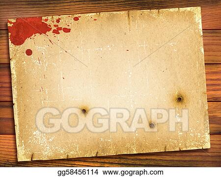 Clip Art Old Paper Texture With Red Blood On Wood Background Retro Stock Illustration Gg58456114 Gograph 800 x 800 jpeg 302 кб. https www gograph com clipart license summary gg58456114
