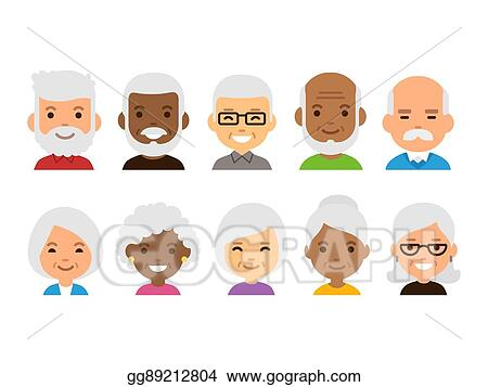Image of: Photography Old People Avatars Runcorn And Widnes World Vector Art Old People Avatars Clipart Drawing Gg89212804 Gograph