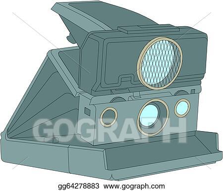 Old Polaroid Camera Isolated On Whi