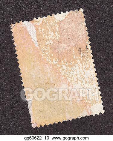 Old Postage Stamp Border On Black