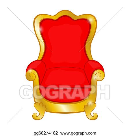 Excellent Vector Art Old Red Antique Armchair On A White Eps Home Interior And Landscaping Mentranervesignezvosmurscom