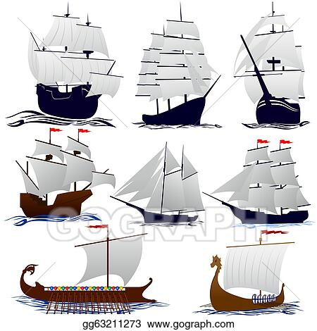 stock illustrations old sailing ships stock clipart gg63211273