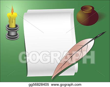 Vector Stock - Old style letter template. Clipart Illustration ...