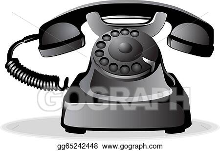 Vector Art - Old telephone  Clipart Drawing gg65242448 - GoGraph