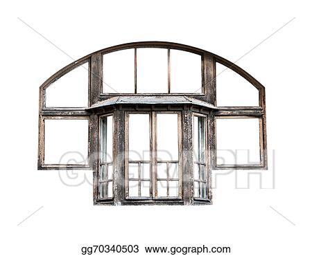Stock Photograph - old window frame isolated. Stock Image gg70340503 ...