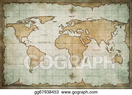 Stock illustration old world map background clip art gg67938453 old world map background gumiabroncs Image collections