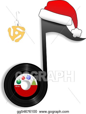 Rock Christmas Music.Vector Illustration Oldies Note For Holiday Christmas