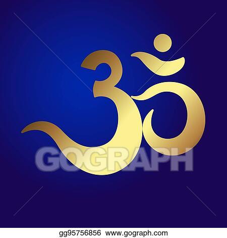 Stock Illustration Om Or Aum Indian Sacred Sound Original Mantra