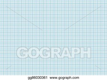 vector stock one millimeter graph paper cyan color on a4 size