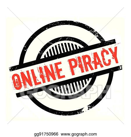 vector stock online piracy rubber stamp clipart illustration