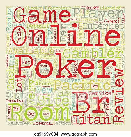 Vector Art - Online poker room reviews 1 text background