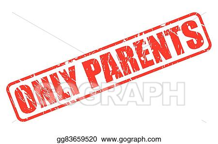 Only Parents Red Stamp Text