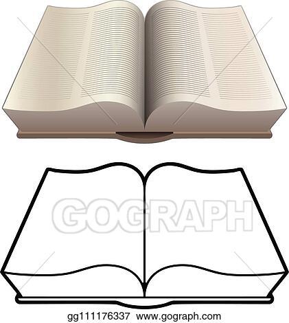 Vector Clipart - Open book, bible, encyclopedia, classic