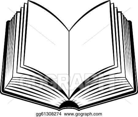 vector art open book clipart drawing gg61308274 gograph rh gograph com clip art open book outline clipart open book outline