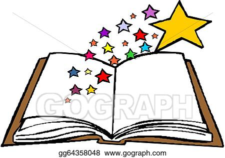 vector art open book clipart drawing gg64358048 gograph rh gograph com free clip art open book clip art open blank book