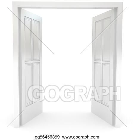 ... Open door over white  sc 1 st  GoGraph & Open Door Stock Illustrations - Royalty Free - GoGraph pezcame.com