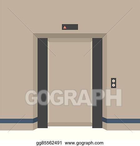 open door drawing adorable open doors elevator vector art doors elevator clipart drawing gg85562491 gograph