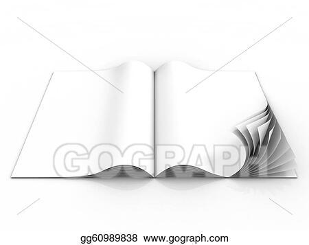stock illustration open magazine blank page template clip art