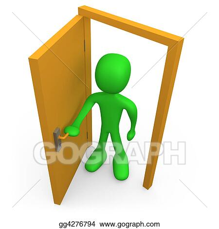 Open front door illustration Vector Open The Door Gograph Stock Illustration Open The Door Stock Art Illustrations