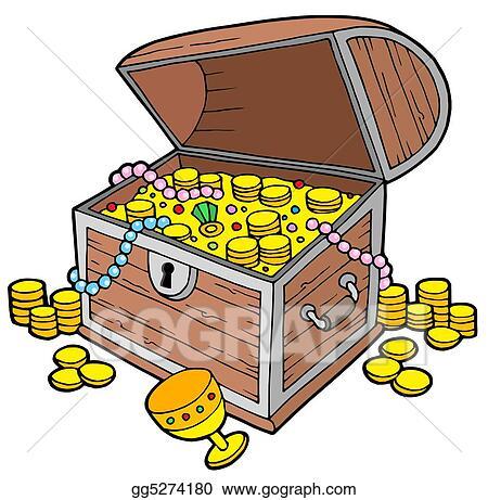 clip art open treasure chest stock illustration gg5274180 gograph rh gograph com treasure chests clip art treasure chests clip art