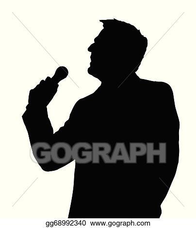 vector illustration opera singer silhouette eps clipart rh gograph com  opera singer clipart free
