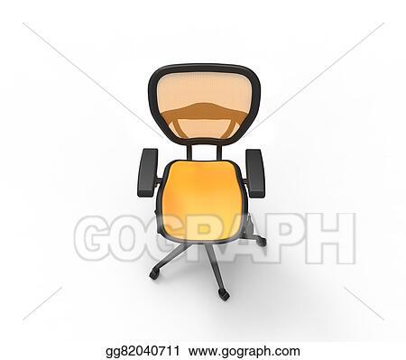 DessusClip Commerciale Illustration OrangeChaise Illustration BureauVue Commerciale 5AR34jLq
