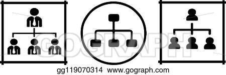vector stock organizational structure icon on white background stock clip art gg119070314 gograph https www gograph com clipart license summary gg119070314