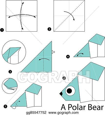 Origami polar bear | 470x431