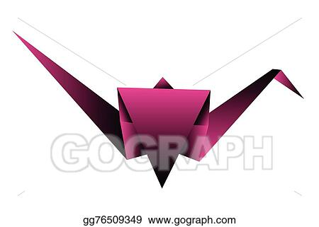 Eps Illustration Origami Crane Vector Illustration Vector Clipart