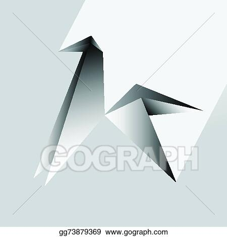 Origami Horse Vector Illustration