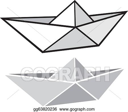 Eps Vector Origami Paper Boat S Stock Clipart