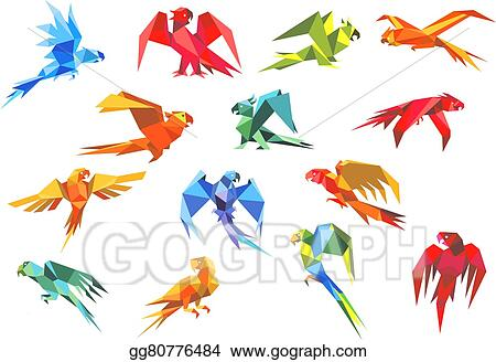 3D origami Macaw by dfoosdc on DeviantArt | 328x450