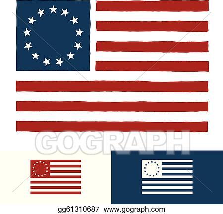 91c5ddd000d7 EPS Vector - Original american flag design. Stock Clipart ...