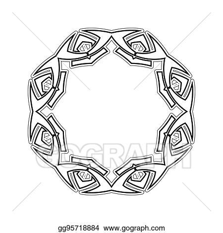 Ornate Border Gothic Lace Tattoo Celtic Weave With Sharp Corners