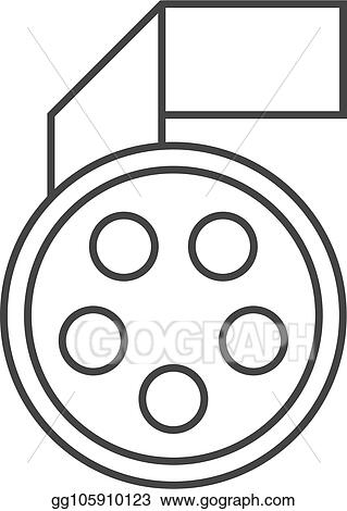 Vector Art Outline Icon Movie Reel Eps Clipart Gg105910123
