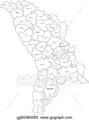 Vector Illustration Outline Moldova Map EPS Clipart Gg - Moldova map outline