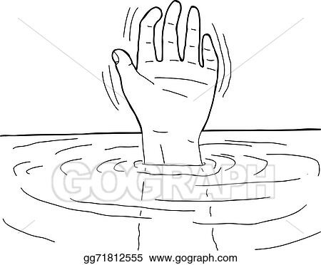 Vector clipart outline of hand in water vector illustration outline of hand in water voltagebd Image collections