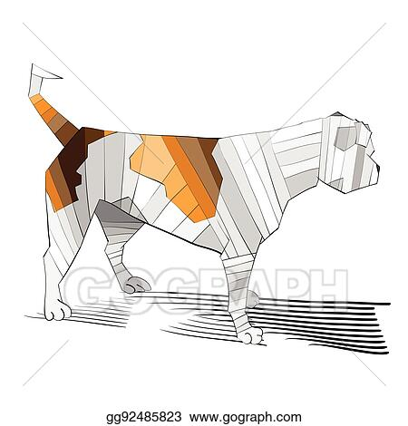 Vector Art Outlined Cute Bulldog Clipart Drawing Gg92485823 Gograph