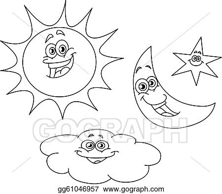Black And White Cartoon Sun And Moon Free Download Oasis Dl Co